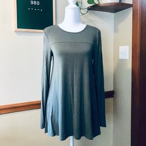 """💕🌵Aerie """"Just Add Leggings"""" Tee Olive Size Small"""